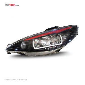 چراغ جلو مدل S100-117 مناسب برای پژو 206