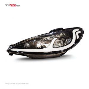 چراغ جلو مدل S100-118 مناسب برای پژو 206