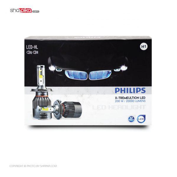 لامپ هدلایت خودرو PHILIPS مدل H1 رنگ سفید بسته 2 عددی