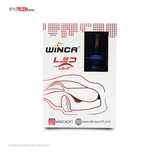 لامپ هدلایت خودرو Winca مدل H4 سه طرفه رنگ سفید بسته 2 عددی