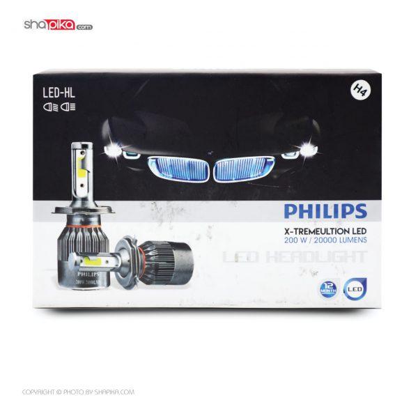 لامپ هدلایت خودرو PHILIPS مدل H7 رنگ سفید بسته 2 عددی