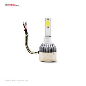 لامپ هدلایت خودرو C6 مدل H1 رنگ سفید بسته 2 عددی