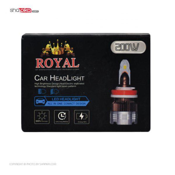 لامپ هدلایت خودرو Royal مدل H7 رنگ سفید بسته 2 عددی