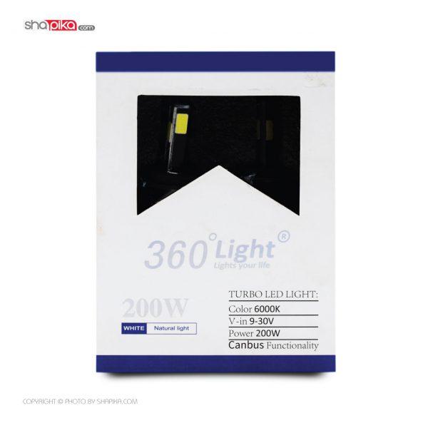 لامپ هدلایت خودرو 360Light مدل H4 چهار طرفه رنگ سفید بسته 2 عددی