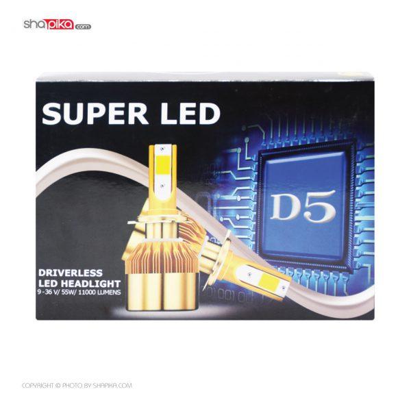 لامپ هدلایت خودرو Super LED مدل D5 رنگ سفید بسته 2 عددی