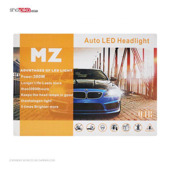 لامپ هدلایت خودرو MZ مدل 300W رنگ سفید بسته 2 عددی
